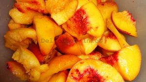 Peaches for beetroot and peaches cake