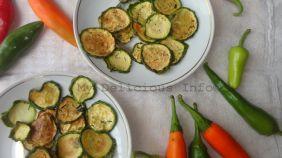 Zucchini chips dehyrdated