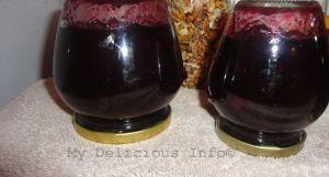 Homemade grape jam