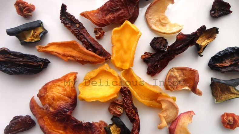 Dehydrated fruits and vegetables