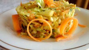 Cabbage avocado salad