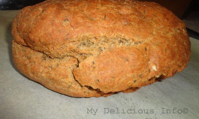 Homemade soda yoghourt bread