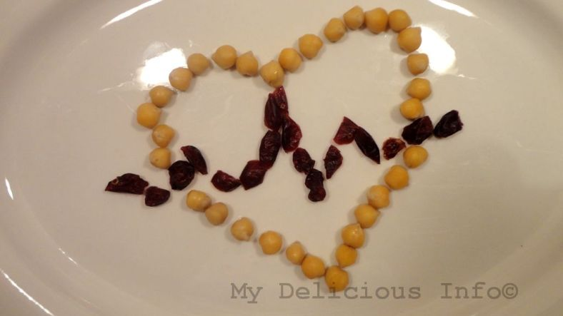 Chickpeas berry heart