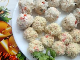 Cream cheese snow balls
