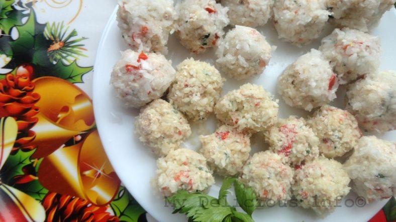 Cream cheese snow balls