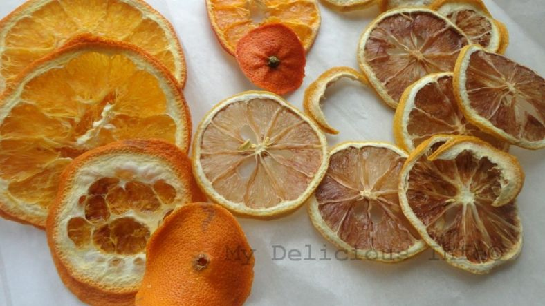 Dehydrating lemons oranges and mandarins