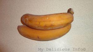 Frozen bananas