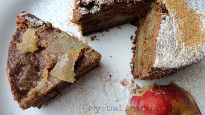 Apple buck-wheat cake