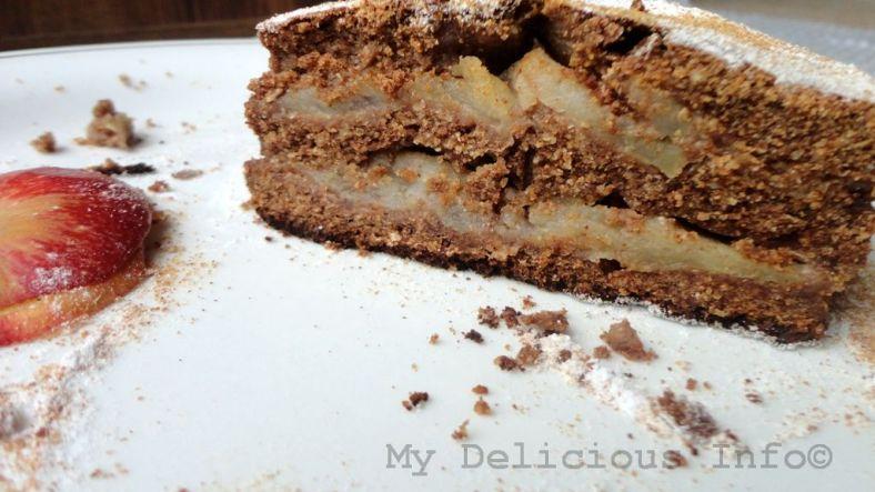 Apple buck-wheat cake