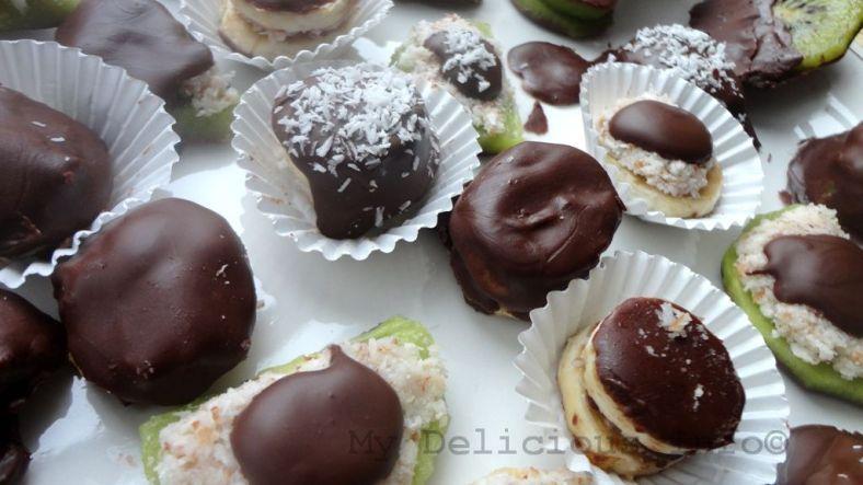 Chocolate fruits nuts bonbons