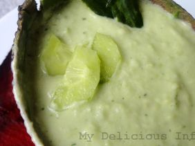 Avocado cucumber soup
