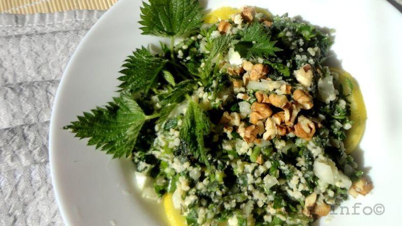 Millet nettle salad