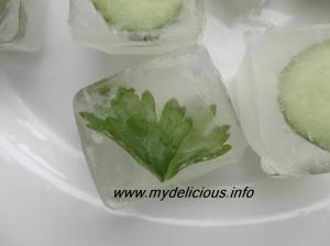 Freezing parsley and cucumbers