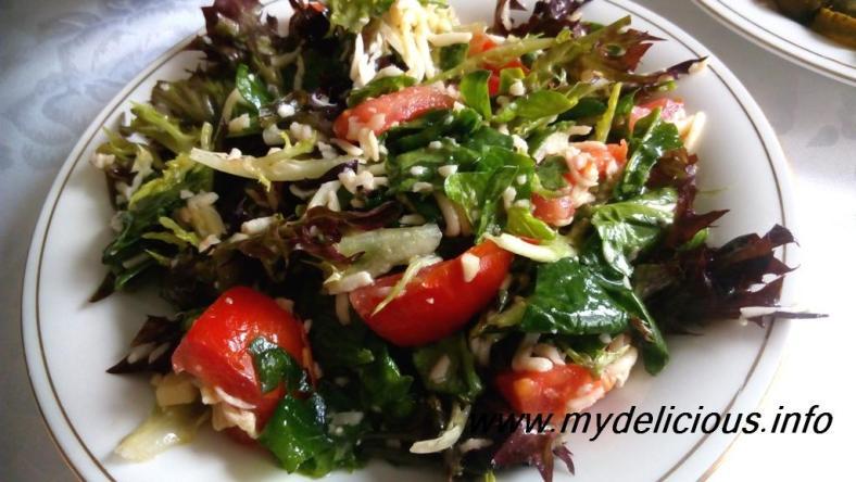 Spinach emmental salad