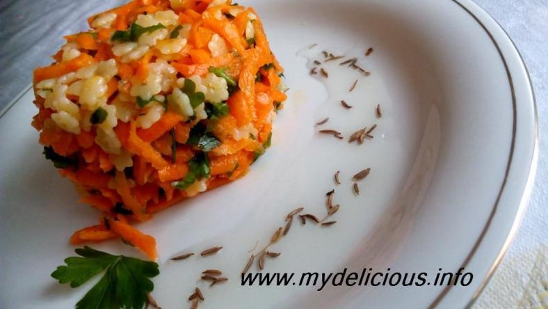 Carrots couscous cummin salad
