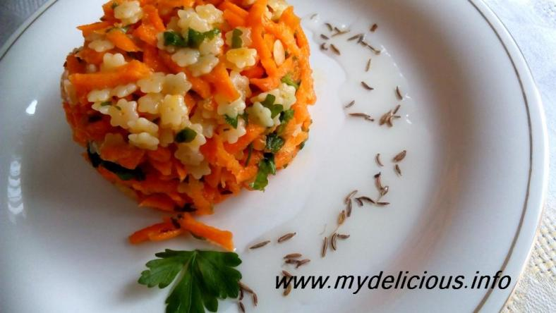 Carrots couscous cummin salad