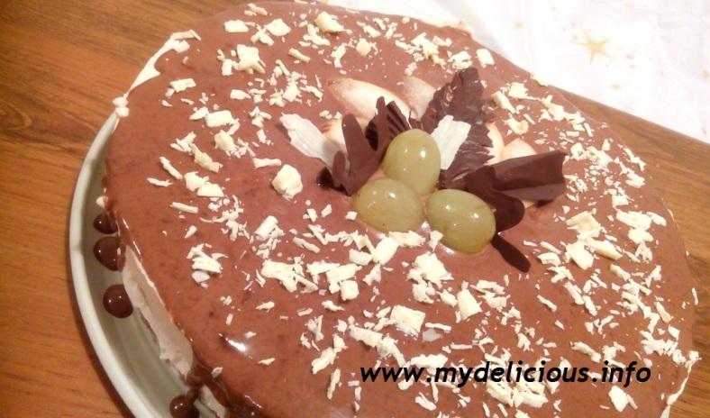 Chocolate mousse fruit cake