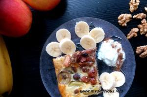 Закуска с просо, ядки и плодове